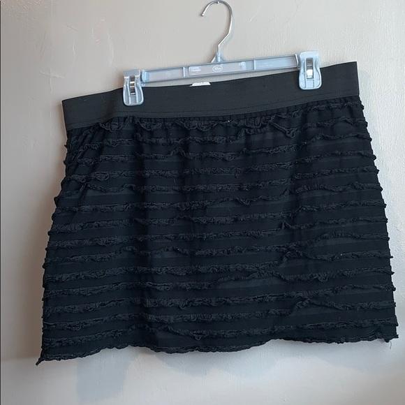 L8teR Dresses & Skirts - Plus size black shredded mini skirt